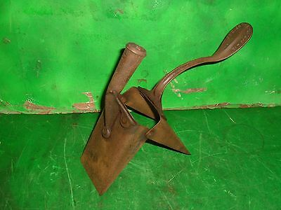 vtg 1899 rustic potato planter farm tool folk art very good cond