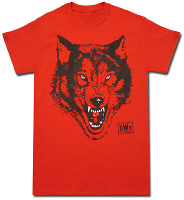 NWO New World Order Wolfpac Logo Adult Red T-shirt