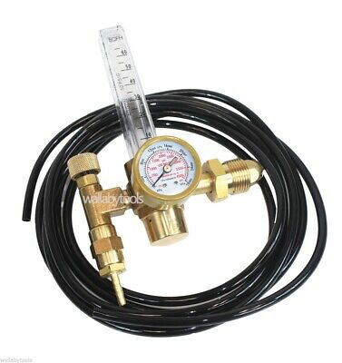 New Argon CO2 Mig Tig Flow meter Regulator Welding Weld w/Hose