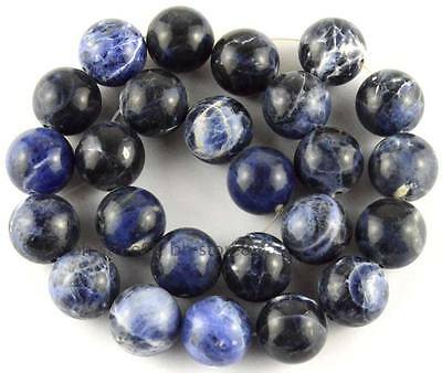 Natural Blue Sodalite 14mm Round Smooth Gemstone Beads 13.5''25pcs