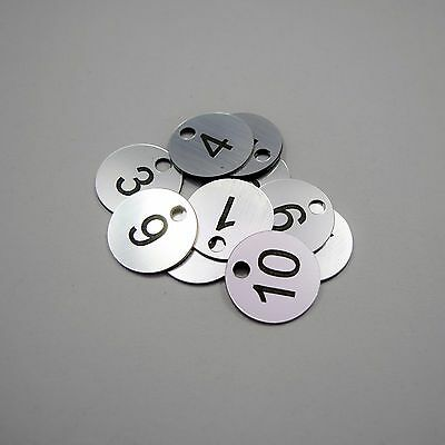 Set of 10x3cm Laser Engraved Number Discs, Table, Tags, Locker, Pub, Restaurant