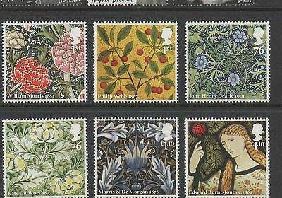 GB 2011 150th Anniversary Morris & Company unmounted mint set stamps
