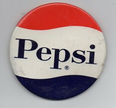 Large 3 inch 1950s Pepsi Cola Pinback Button