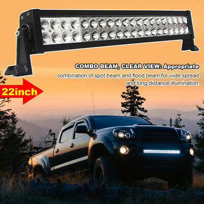 20 inch 120w Led Work Light Bar Spot Flood Combo Jeep Off-roading SUV Pickup 24""