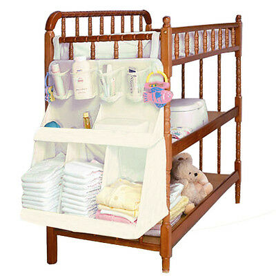 Waterproof Baby Bed Crib Nursery Toys Diaper Storage Organizer Hanging Bag New