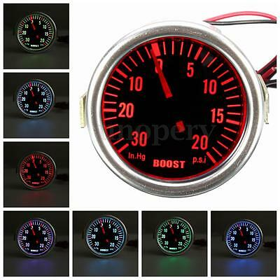 2'' 52mm Universal Car LED Turbo Boost Vacuum PSI Pressure Gauge Meter Colorful