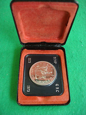 1973 CANADA RCMP R.C.M.P. Royal Canadian Mounted Police cased silver dollar