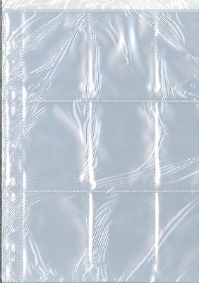 20 Budget Trading Card Album Pages Sleeves 9 Pocket For All Standard Chromo