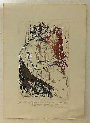 Lithographie ANDRES MONTANI 7/30 Signiert Nummeriert 15/6/73