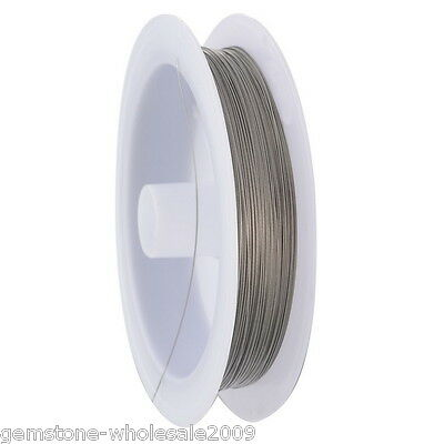 W09  1Roll 70M Silver Tone Beading Wire 0.35MM