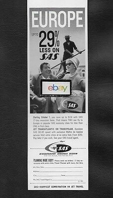 Sas Scandinavian1960 Europe On Sale 29% Less Couple In Venice Gondola Ad