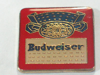 Vintage Caution Budweiser Powered  Enamel Pin