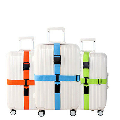 Outdoor Clasp Adjustable Travel Luggage Suitcase Baggage Bag Cross Strap Belt