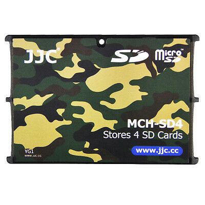 "JJC 0.2"" Ultra Slim Compact Wallet Memory Card Holders fit 4SD Cards Camouflage"