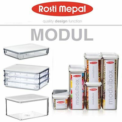 Rosti Mepal Modul Airtight Storage Box Boxes Container, 5 Piece or Single