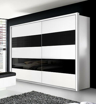 schwebet renschrank sandrin kleiderschrank in wei und anthrazit 270 cm eur 879 00 picclick de. Black Bedroom Furniture Sets. Home Design Ideas