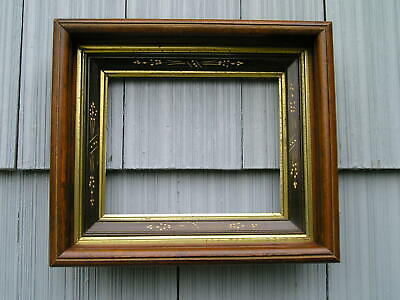 Lovely Antique Aesthetic Eastlake Victorian Wheat Carved Picture Frame 8 x 10