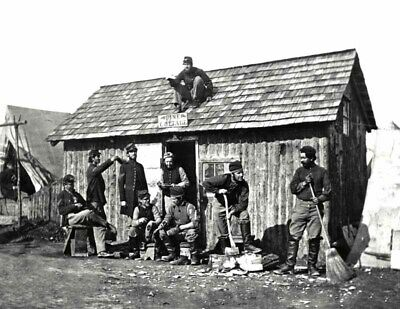 "1863 Civil War Winter Quarters Vintage Photograph  8.5"" x 11"" Reproduction"