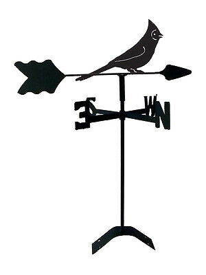 cardinal  weathervane black wrought iron look roof mount made in usa tls1065rm