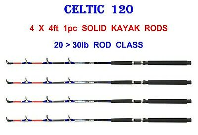 Lineaeffe 1pc 4ft Solid Boat Rods for Game Sea Kayak Canoe Fishing