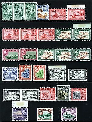 FIJI 1938-55 King George VI Pictorial Part Set SG 249 to SG 266 MINT