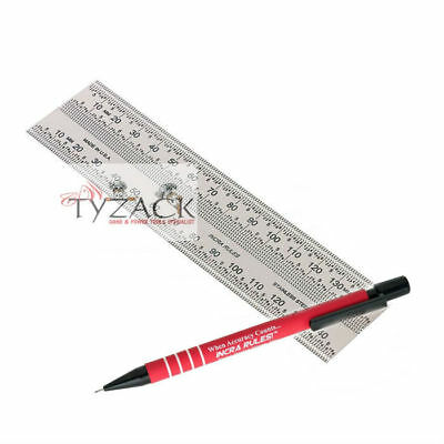 Incra Metric 150mm Precision Rule Marking Ruler Stainless Steel 707516 + Pencil