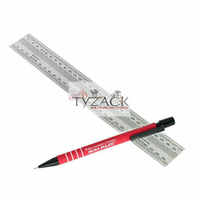 Incra Metric 300mm Precision Rule Marking Ruler Stainless Steel 707517 + Pencil