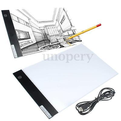 A4 Ultra Thin LED Tattoo Light Box Table Drawing Tracing Pad Stencil Board + USB