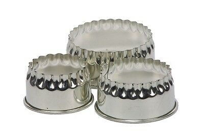 Swift Round Crinkled Cookie Pastry Biscuit Mince Pie Tart Cutters Set of 3 Bake