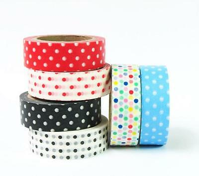 Darice Washi Tape DOTS Scrapbook Journal DIY Home Decor Mixed Media OPTIONS!