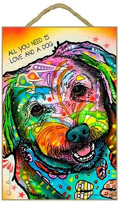 Maltese Sign – All You Need is Love & a Dog 7 x 10.5