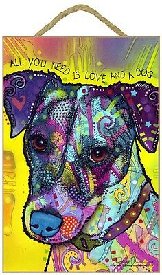 Jack Russell Terrier Sign – All You Need is Love & a Dog 7 x 10.5