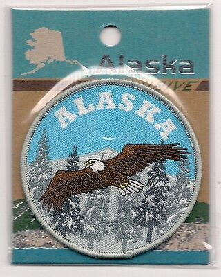 Souvenir Patch  - State Of Alaska - Bald Eagle