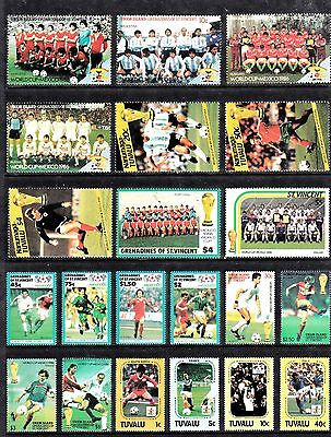 Sports FOOTBALL Thematic STAMP Collection UNMOUNTED MINT Ref:TH542