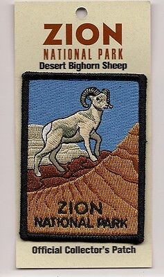 Souvenir Patch  - Zion National Park, Utah - Desert Bighorn Sheep