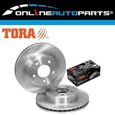 2 Front Brake Rotors + Disc Pads Ford Falcon AU 5/00-9/02 Series 2 + 3 Fairlane