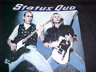 Status Quo UK Rock Band 1993 Just For The Record Tour Black Concert T-Shirt L