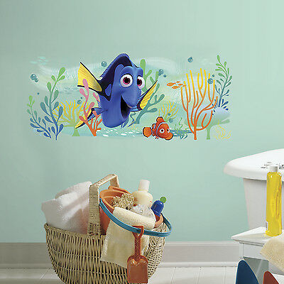 Finding Dory And Nemo Giant Wall Decals 39 Disney Stickers Kids Bathroom Decor