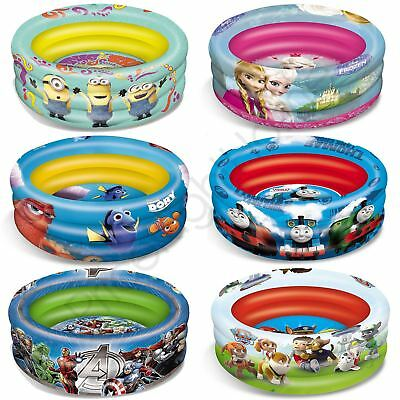 Kids Character Inflatable Paddling Pool - Avengers Sofia Turtles + More Free P+P