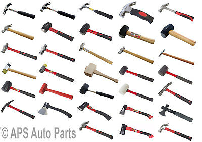 Club Ball Pein Pin Claw Panel Beating Hammers Mallets Builder Woodwork DIY Tool