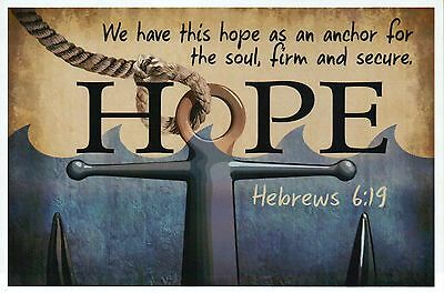Hebrews 6:19 Bible Quote, Hope Anchor, Religious & Inspirational Modern Postcard