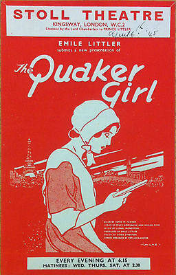 The Quaker Girl Stoll Theatre Programme 1945
