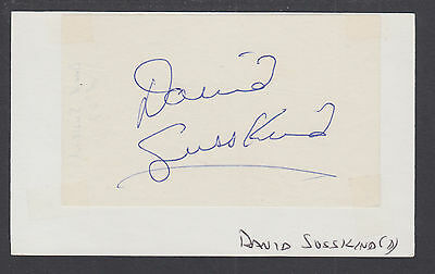 David Susskind, American Producer and TV Host, clipped signature on 3x5 card