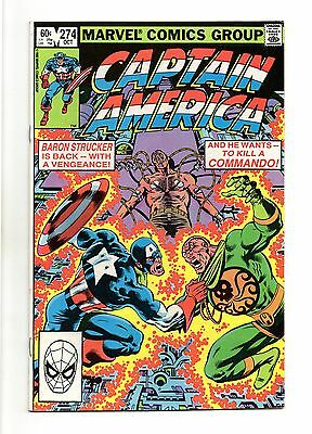 Captain America Vol 1 No 274 Oct 1982 (VFN+ to NM-)