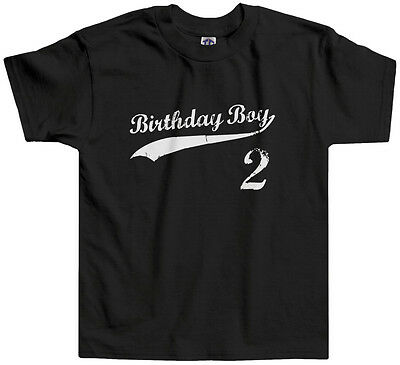 Threadrock Kids Birthday Boy 2 year old Toddler T-shirt happy 2nd two
