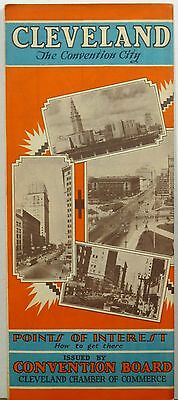 1931 Cleveland Ohio Chamber of Commerce promotional brochure & map b