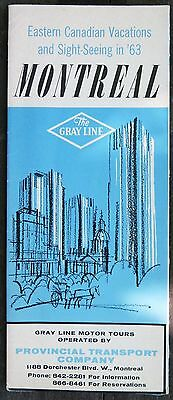 1963 Montreal Vacations The Gray Line brochure great graphics b