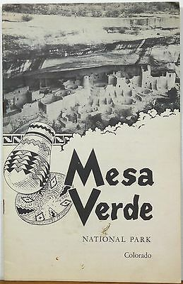 1954 Mesa Verde National Park Colorado informational booklet and map b
