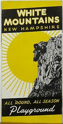 1950's White Mountains New Hampshire vintage travel brochure b