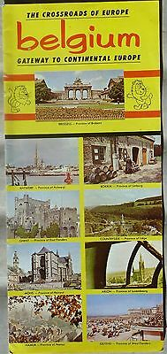 1962 Belgium vintage travel tourism brochure and map b